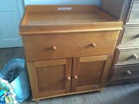 obaby closed changing unit country pine nursery furniture
