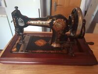 Vintage 1920s Jones Sewing Machine Hand Crank With Case