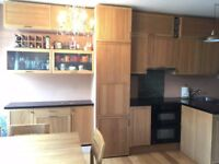Complete kitchen units with worktop and appliances - GOOD condition