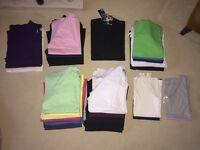 *JOB LOT* BRAND NEW plain short sleeve t-shirts & vests