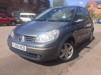 56 plate - renault scenic - 1.6 petrol - 5 months mot - part service history - good runner