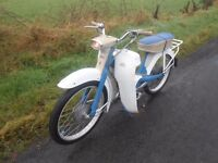 Classic 1966 NSU QUICKLY vintage moped autocycle