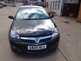 09 plate vauxhall astra 1.4 sxi 3dr 53500 miles black met £3500