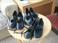 3 pair of tap shoes