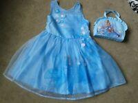 Cinderella party dress and handbag