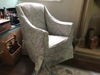 Pre 1930s Armchair with Laura Ashley cover