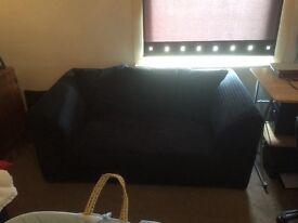 Black jumbo cord sofas