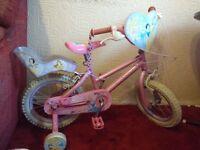 "Girls Bike Disney princeess ""Enchanted Dreams"" 14"" wheels for £15"