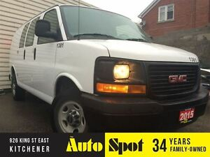 2015 GMC Savana 12 FOOT EXTENDED VAN/LOW, LOW KMS!/WE FINANCE !!