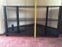 TV Corner Unit Glass