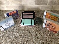 Pre-owned Nintendo DS lite, carry case and 4 games
