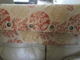 Eyelet curtains patterned- fully lined (2 pairs)
