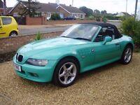 Classic BMW Z3 car Fiji Green