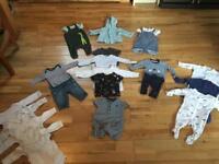 Bundle 3 0-3 months boys ( John Lewis, mixed, H&M, etc)