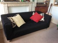 Ikea Klippan sofa with 2 covers (black and red)