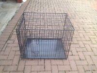 MEDIUM SIZE DOG CAGE HARDLY USED .