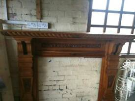 Large Solid Oak Fire Surround