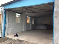 Large garage and workshop/store room to let