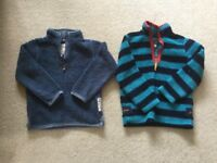 Boys bundle of clothes - Joules and Fatface Fleece Half Zip Tops. Age 6-7