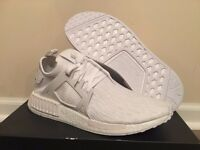 Adidas NMD Size 9 Triple White Primeknit Sold Out Everywhere!!