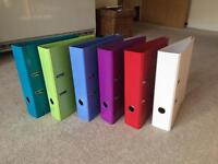 New 6x A4 Lever Arch Files WH Smith - Green, Blue, Purple, Red, White
