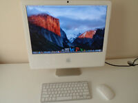 """apple imac 17"""" full microsoft office suite ,wireless keyboard and mouse great condition"""