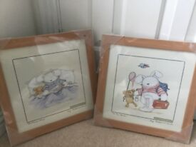 4 x nursery frames pictures, brand new