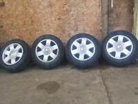 """15"""" vw caddy alloy wheels & tyres 5x112 audi vw vag touran"""