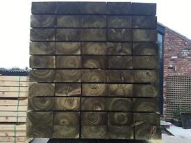 Tanalised Wooden/ Timber Railway Sleepers ~ Various Sizes 🌲