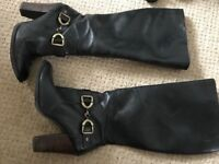 Size 5 knee high black boots