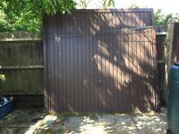 Brown garage door width 2.370 height 2.195