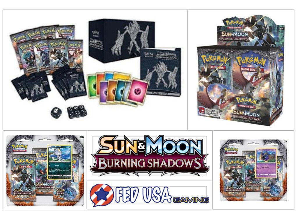 подробные сведения о Pokemon Burning Shadows Ultimate Trainer Kit дополнительная коробка Elite 2 волдыри показать заголовок оригинала