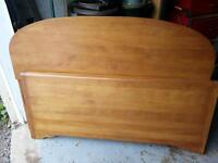antique double bed with dresser