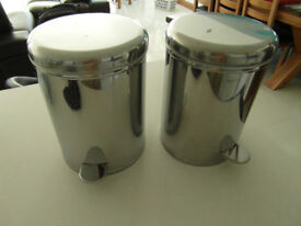 Stainless Steel waste pedal bins for bathroom.