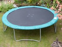 For Sale: 12 ft dia. Trampoline including weather protection cover.