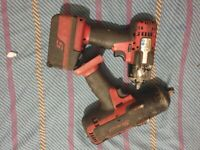 Snap on Impact Wrench 3/4 inch gun 3/8 inch gun Battery and Charger