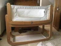 Snuzpod with Greensheep Matress, 3 sheets and 2 matress protectors - Excellent cond - hardly Used.