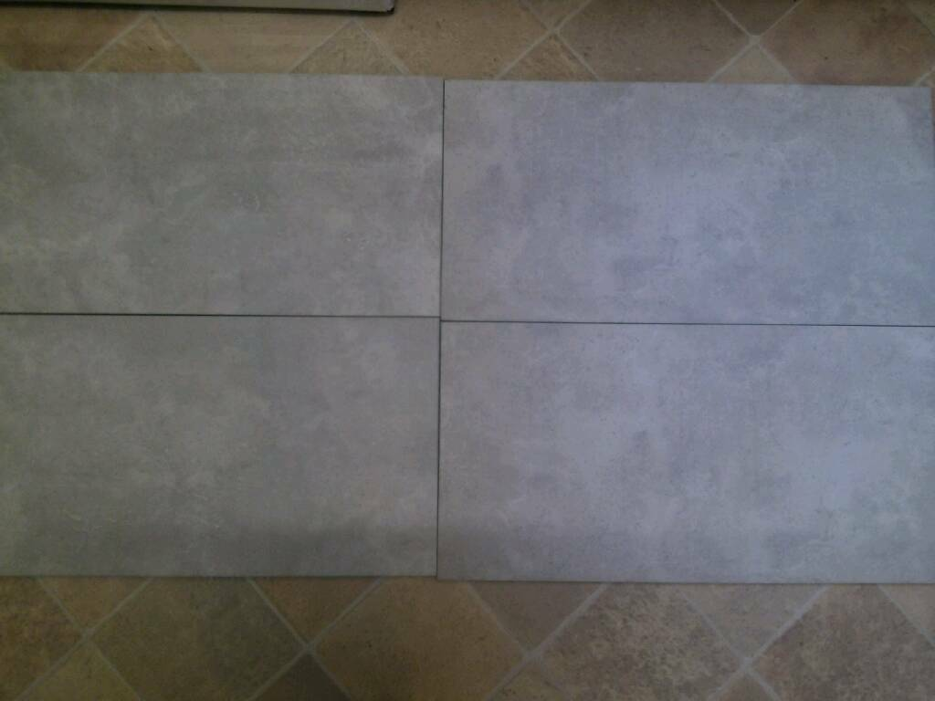 Bandq Ceramic Floor And Wall Tiles 60cm X 30cm Slate Grey 8msq New
