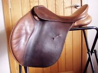 """Bates 16"""" brown leather GP saddle with Cair"""