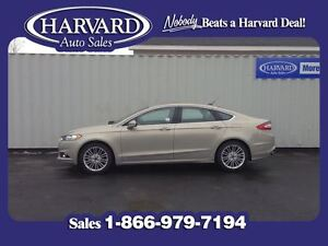 2016 Ford Fusion SE, AWD, Leather, Nav, Tectonic Brown