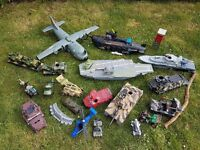 Huge collection of Toy military vehicles
