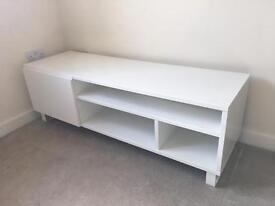 White wooden TV unit