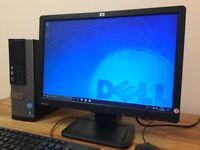 ***FULL SET Dell intel Core i5 , Windows 10 + Office + WiFi + HP Monitor Desktop Computer
