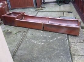 Terracotta part feeder & drinker troughs, ideal for use as garden planters