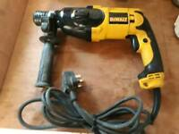 Dewalt 240v hammer sds drill with breaker setting