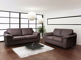 BRAND NEW AMY SOFA COLLECTION**LEATHER OR FABRIC**MATCHING ARM CHAIRS + STOOLS IN STOCK