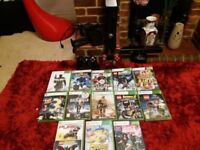 Xbox 360s console 320 GB all leads, kinect, wifi, wireless controller, 13 GAMES discs- 43 downloaded