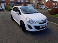 2012 vauxhall corsa 1.2 limited edition in polar white beautiful driver