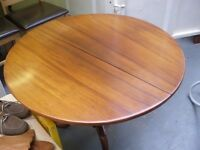 TRADITIONAL ROUND FOLDING TABLE (NO CHAIRS) - NEW LOWER PRICE