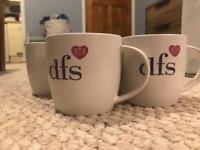 4x DFS mugs